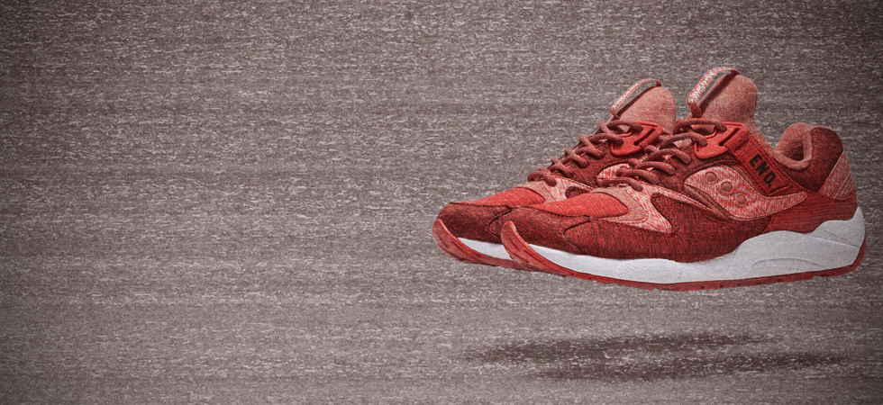 END X SAUCONY GRID 9000 'RED/NOISE'