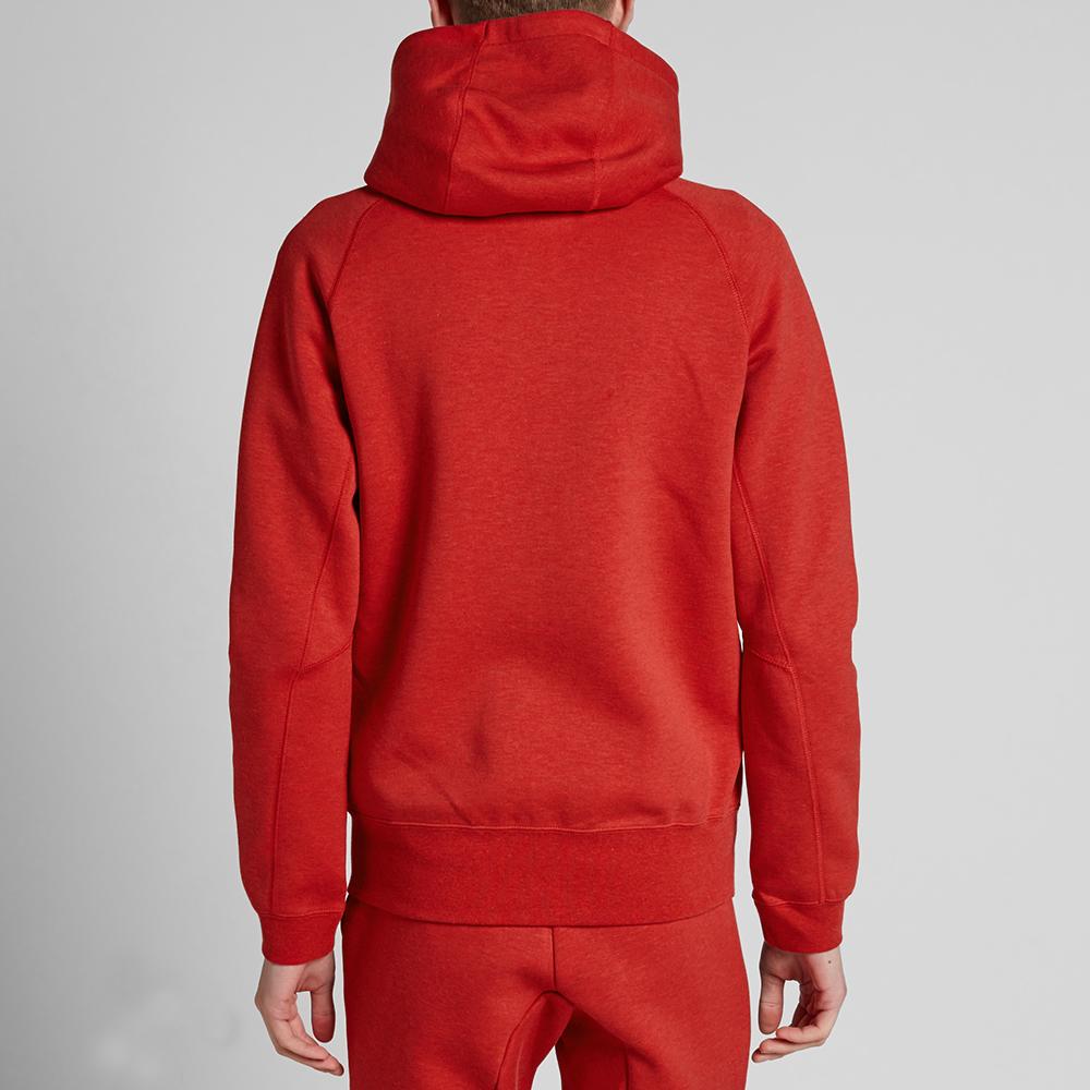 nike tech fleece aw77 zip hoody light university red heather. Black Bedroom Furniture Sets. Home Design Ideas
