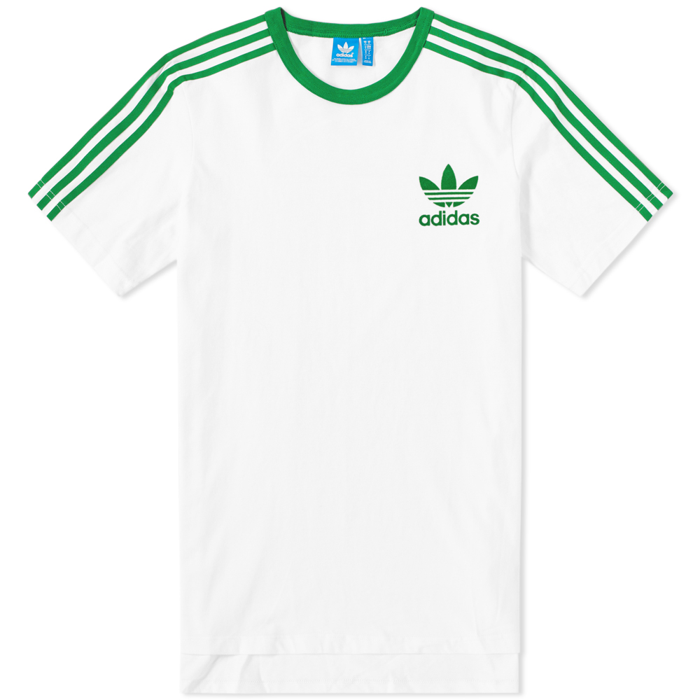 adidas adicolor fashion tee white green. Black Bedroom Furniture Sets. Home Design Ideas