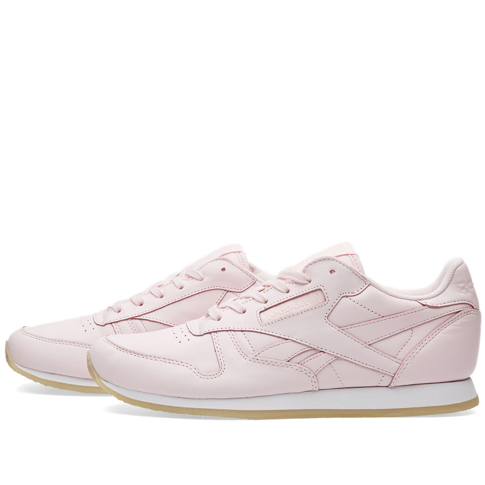 reebok women 39 s classic leather crepe porcelain pink white. Black Bedroom Furniture Sets. Home Design Ideas