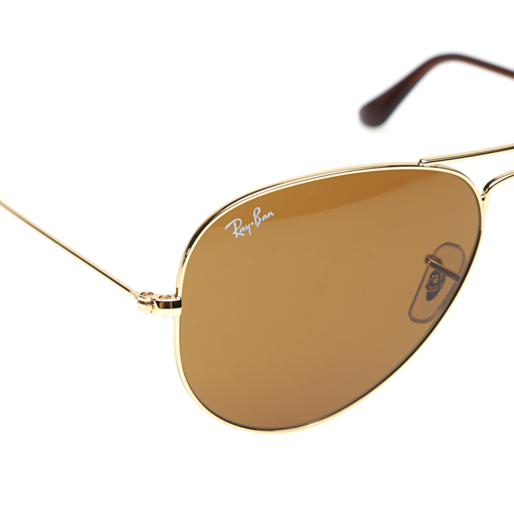ray ban aviator brown  Ray Ban Aviator Sunglasses (Gold \u0026 Brown)