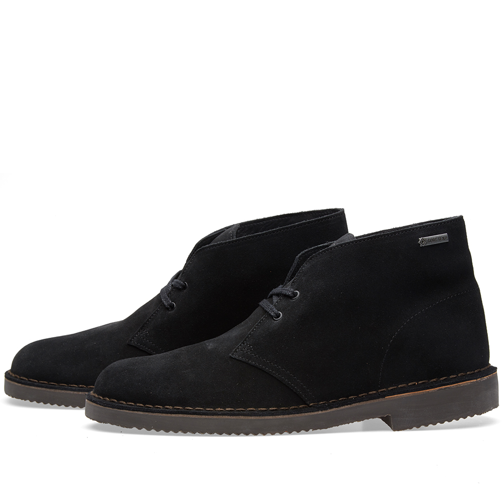 clarks originals gore tex desert boot black suede. Black Bedroom Furniture Sets. Home Design Ideas