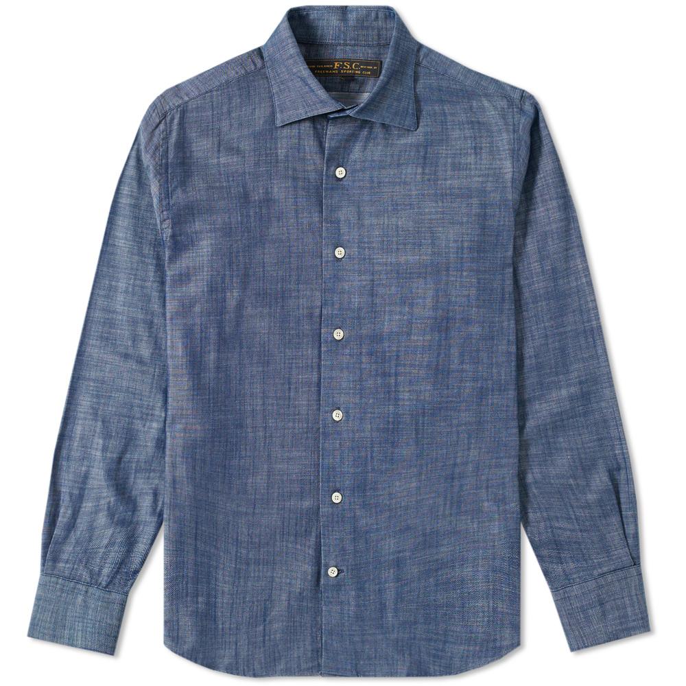 Freemans Sporting Club Hopkins Chambray Shirt