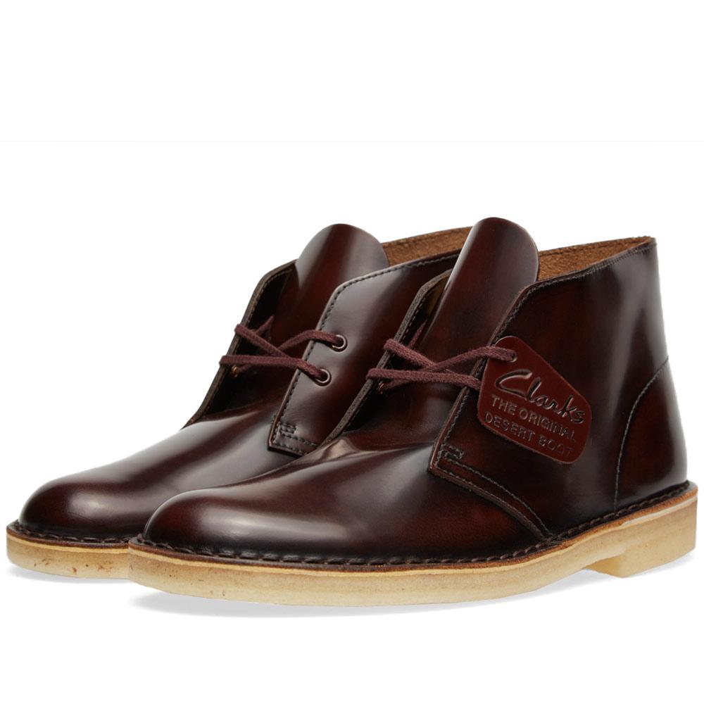 clarks original desert boot oxblood hi shine leather. Black Bedroom Furniture Sets. Home Design Ideas