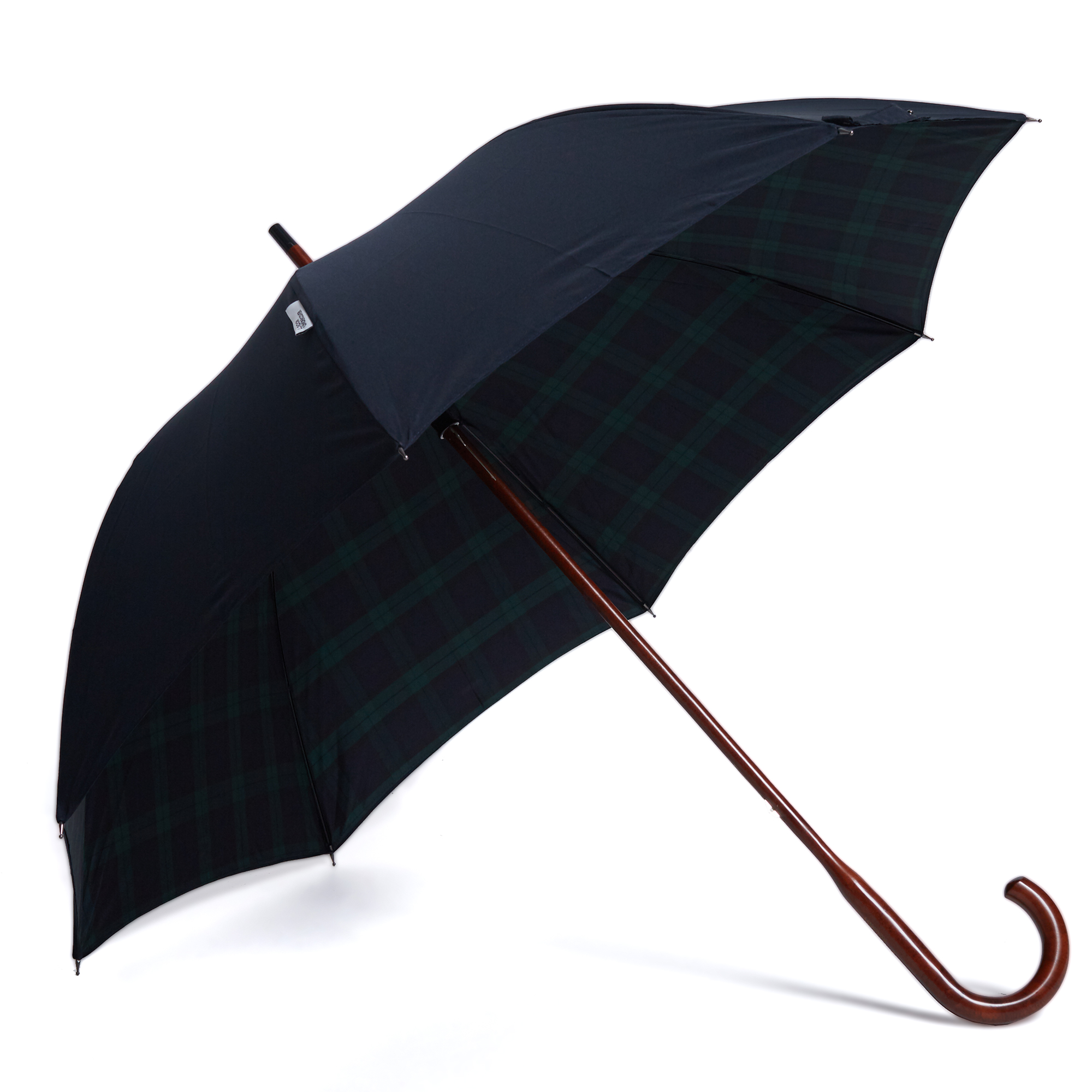 london undercover classic double layer umbrella navy blackwatch tartan. Black Bedroom Furniture Sets. Home Design Ideas