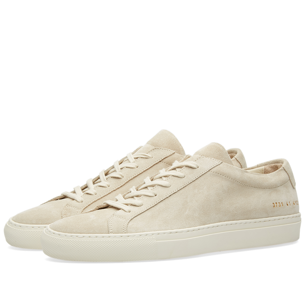 woman by common projects achilles low suede off white. Black Bedroom Furniture Sets. Home Design Ideas