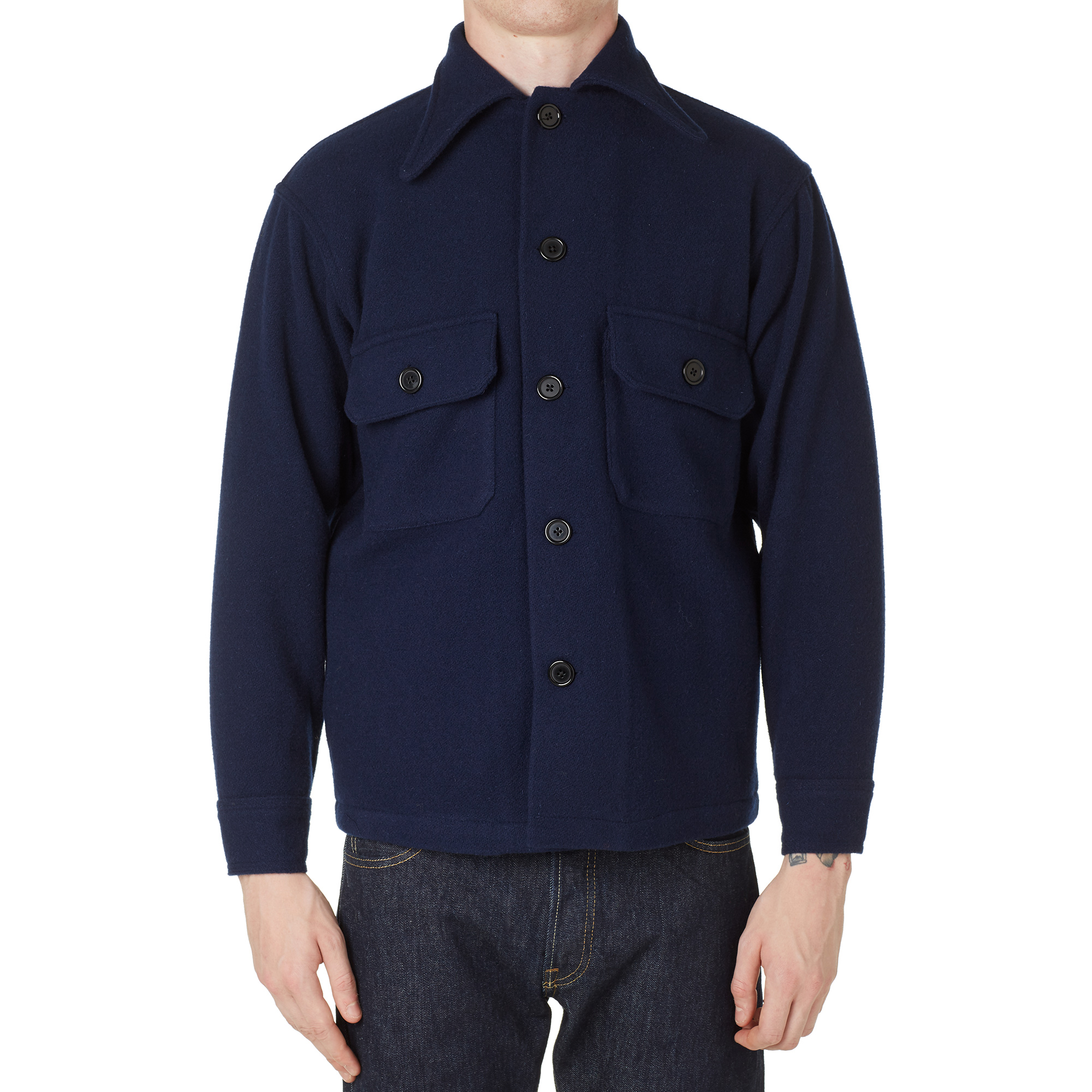 Levi&39s Vintage Clothing Wool Shirt Jacket (Bright Navy)