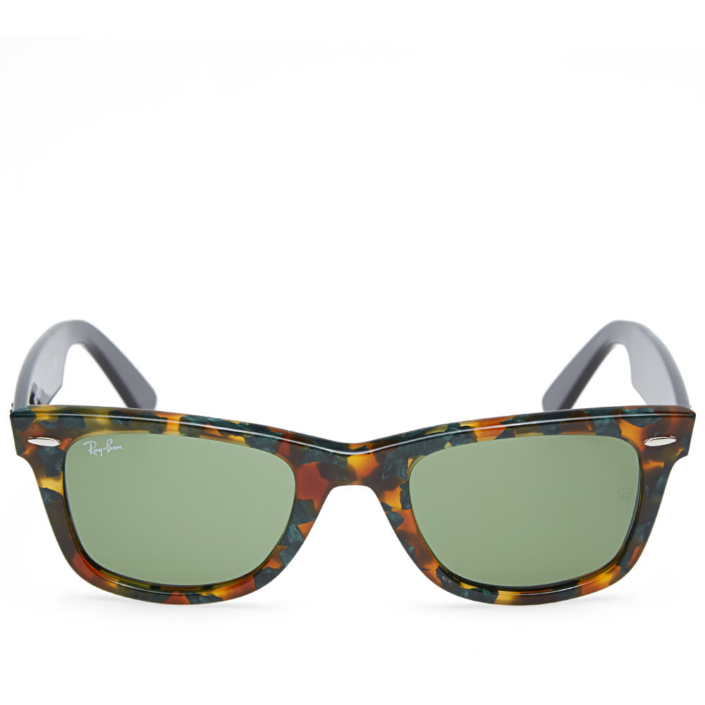 ray ban green wayfarer  Ray Ban Original Wayfarer Fleck Sunglasses (Spotted Green Havana ...
