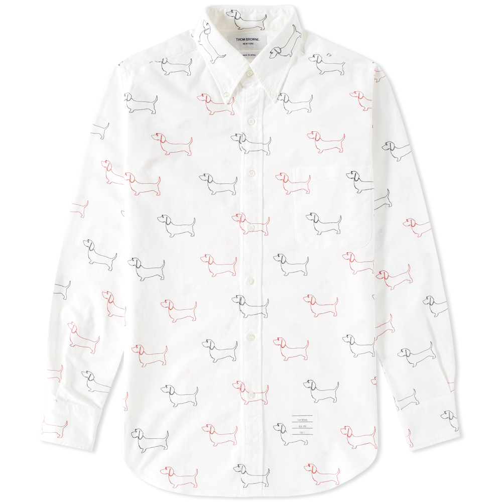 Thom Browne Embroidered Hector Oxford Shirt