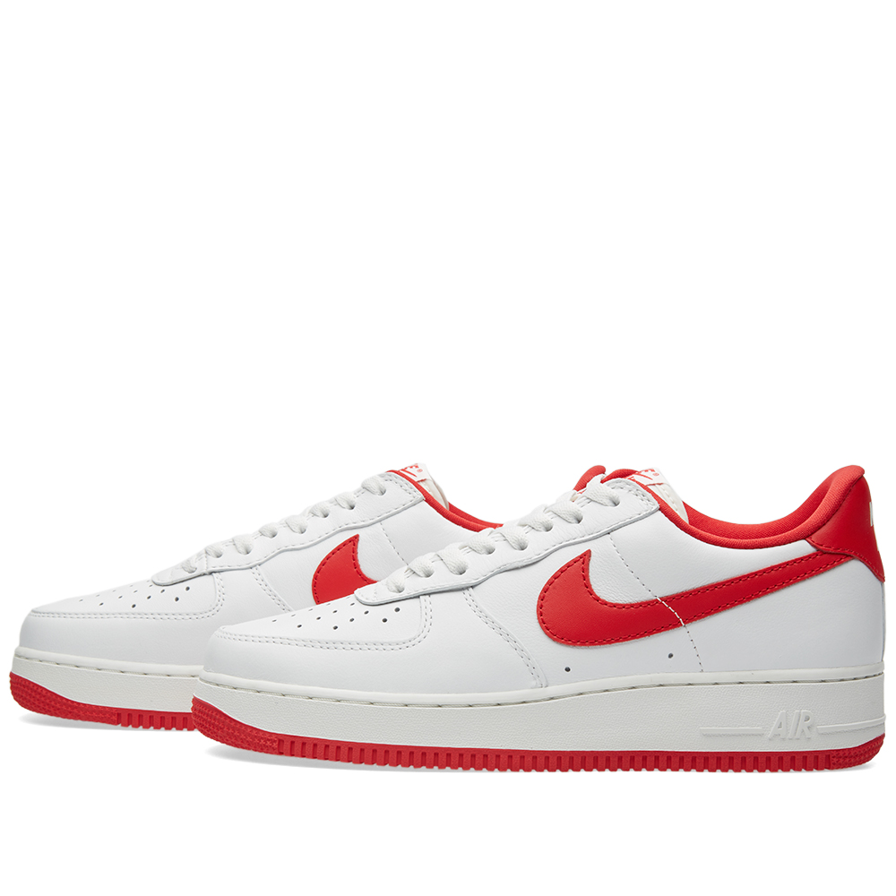nike air force 1 low retro summit white university red. Black Bedroom Furniture Sets. Home Design Ideas