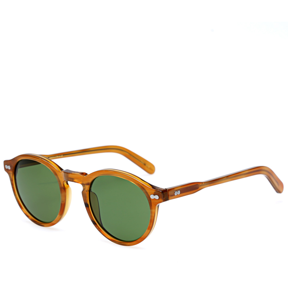 Eyeglass Frame In Saudi Arabia : Moscot Miltzen Sunglasses (Blonde & Green Lenses)