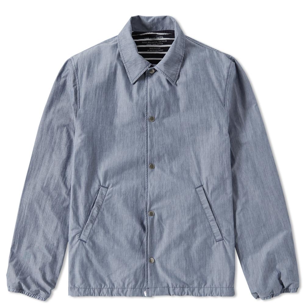 Save Khaki Chambray Warm Up Jacket