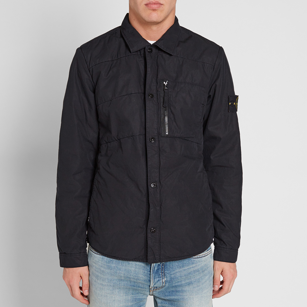 Stone Island Insulated Shirt Jacket (Navy)