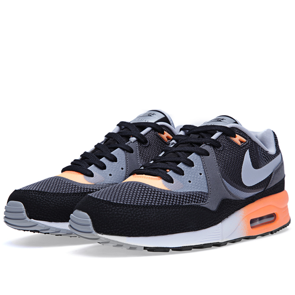 nike air max light comfort black atomic orange. Black Bedroom Furniture Sets. Home Design Ideas