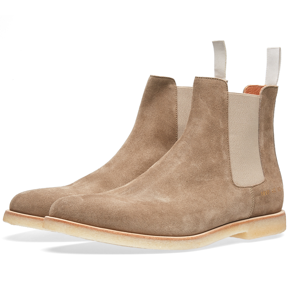 common projects chelsea boot taupe suede