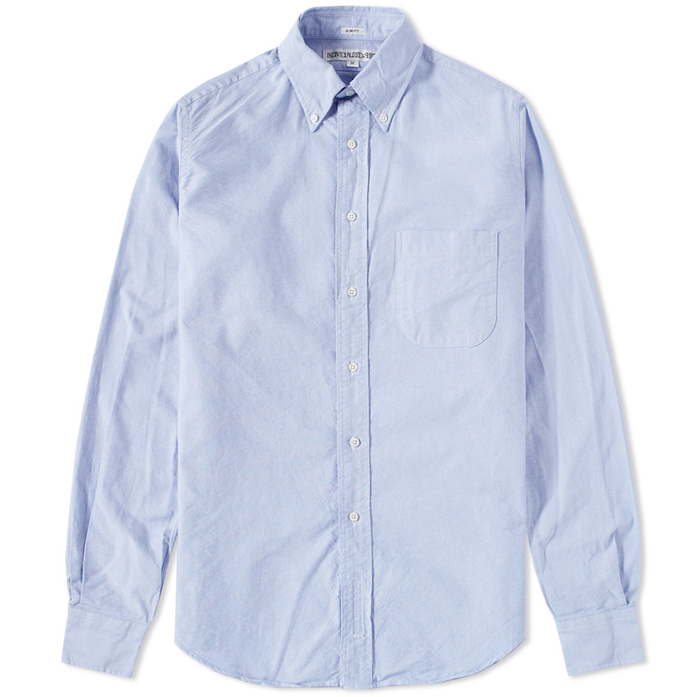 Individualized Shirts Button Down Oxford Shirt Blue