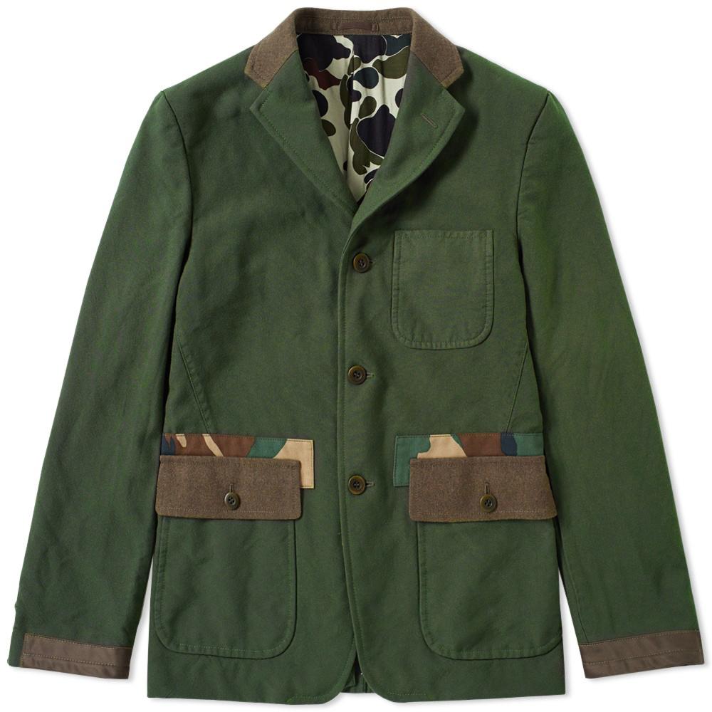 Comme des Garcons Homme Garment Dyed No. 2 Camo Trim Blazer