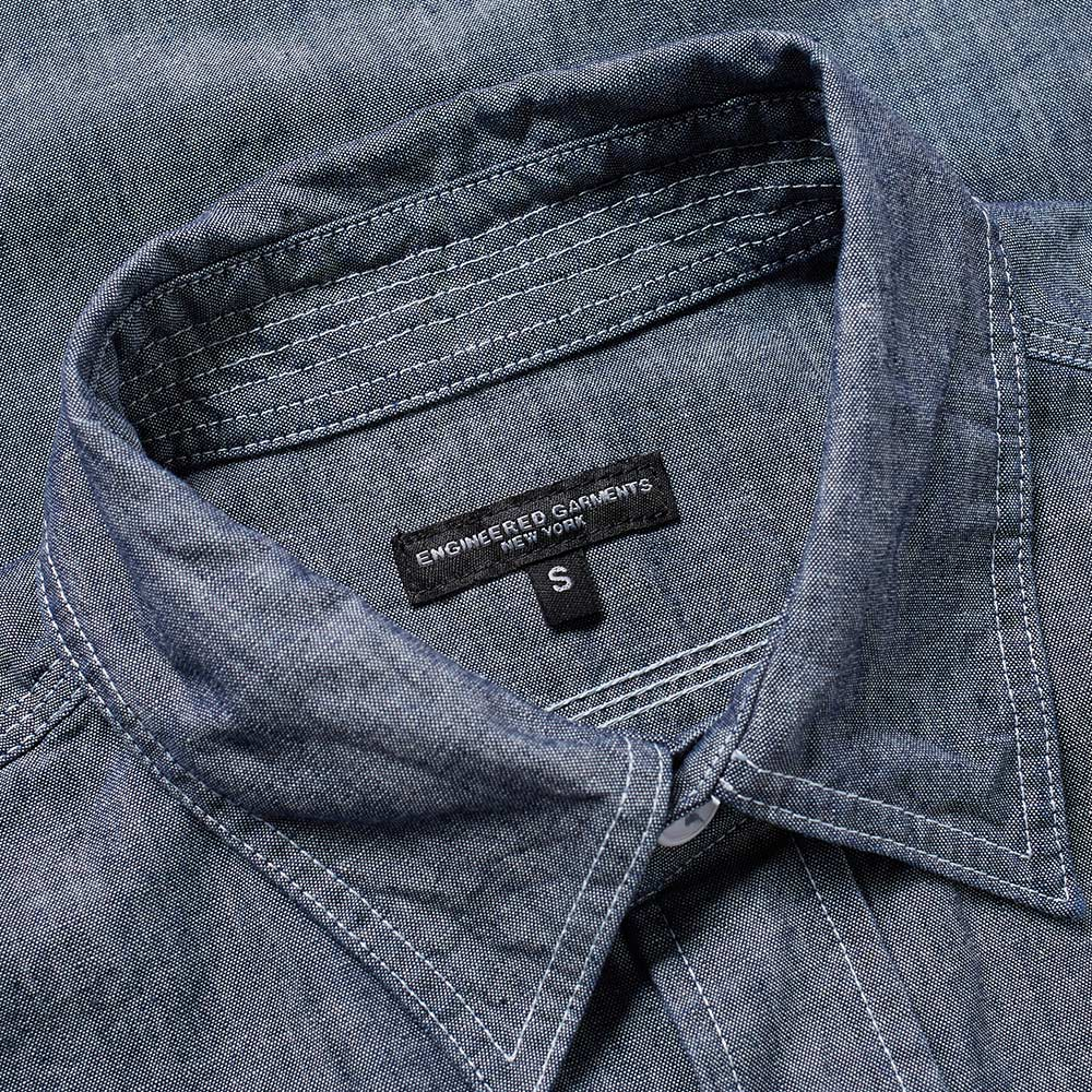 Engineered garments work shirt blue cone chambray for Chambray 7 s
