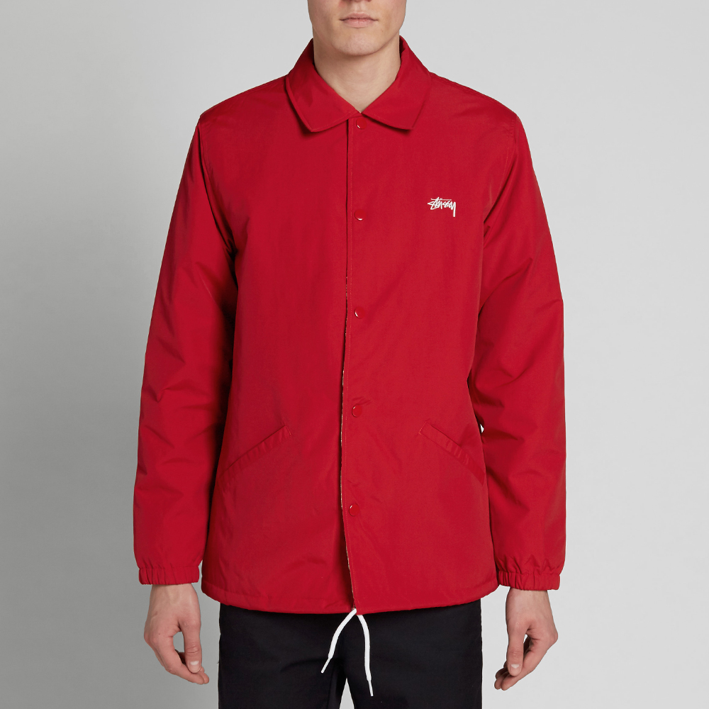 Stussy ss link coach jacket red for Coach jacket