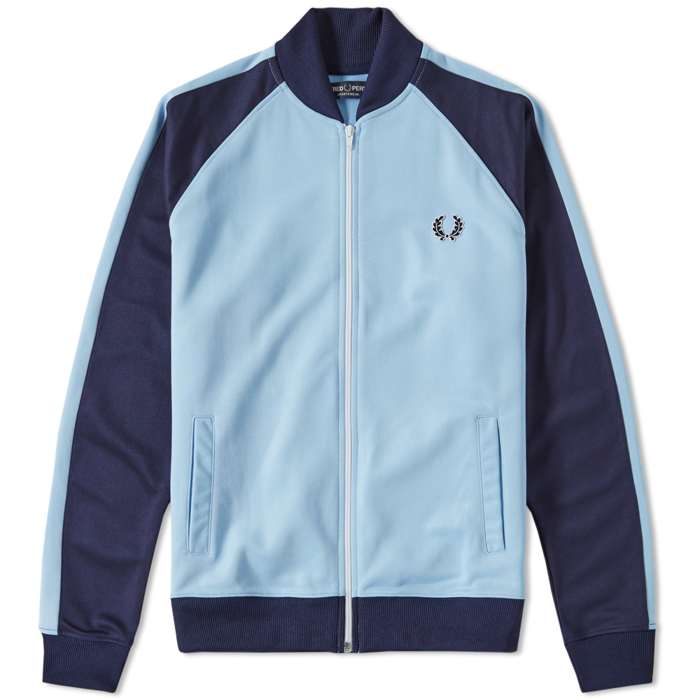 fred perry bomber track jacket sky blue. Black Bedroom Furniture Sets. Home Design Ideas