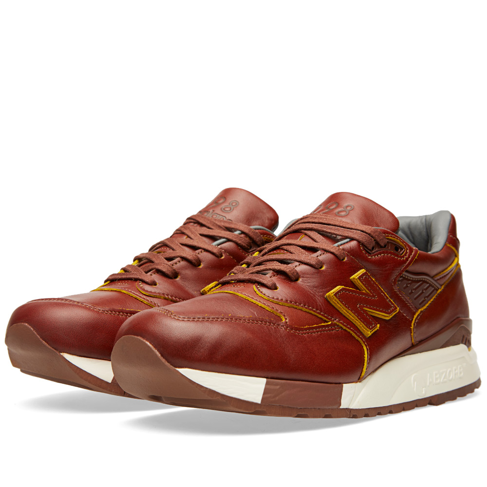 new balance x horween m998dw made in the usa tan. Black Bedroom Furniture Sets. Home Design Ideas