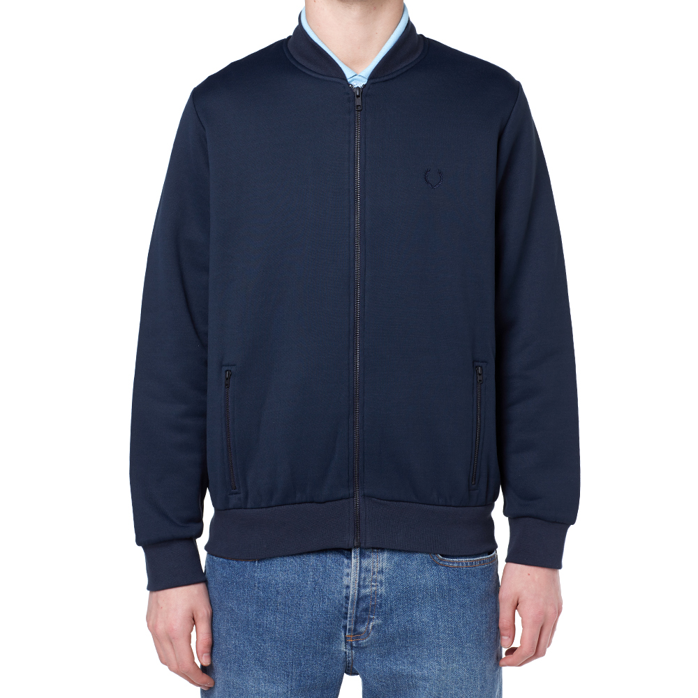 fred perry tricot bomber jacket navy. Black Bedroom Furniture Sets. Home Design Ideas