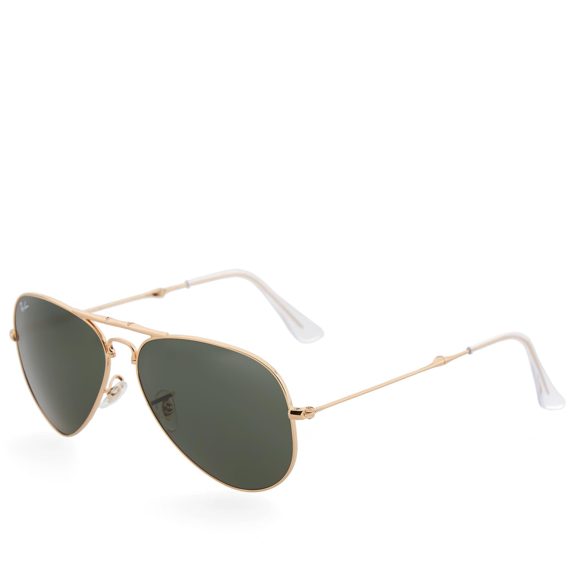 ray ban arista gold  Ray Ban Aviator Folding Sunglasses (Gold \u0026 Green)