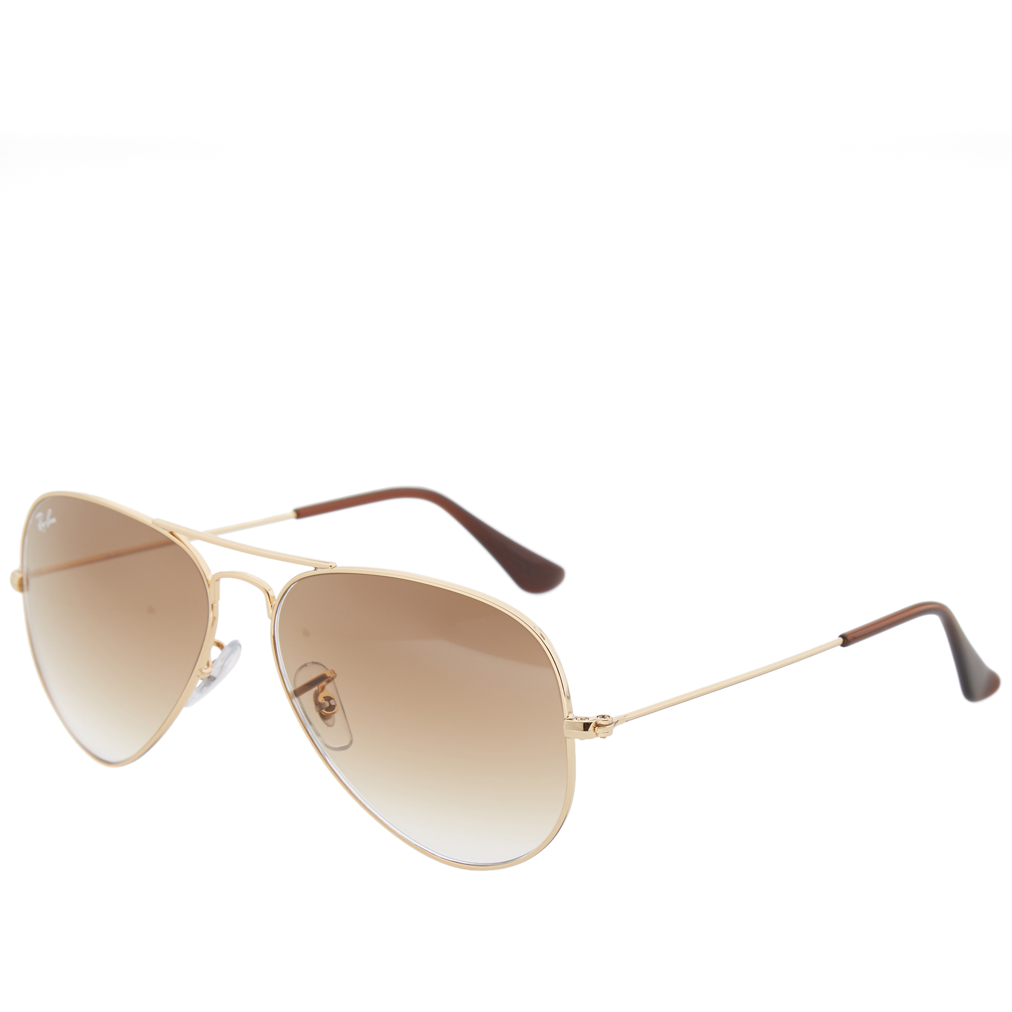 Rb3025 Aviator Sunglasses Gold Frame Crystal Gradient Bl : Ray Ban Aviator Sunglasses (Gold & Crystal Brown Gradient)