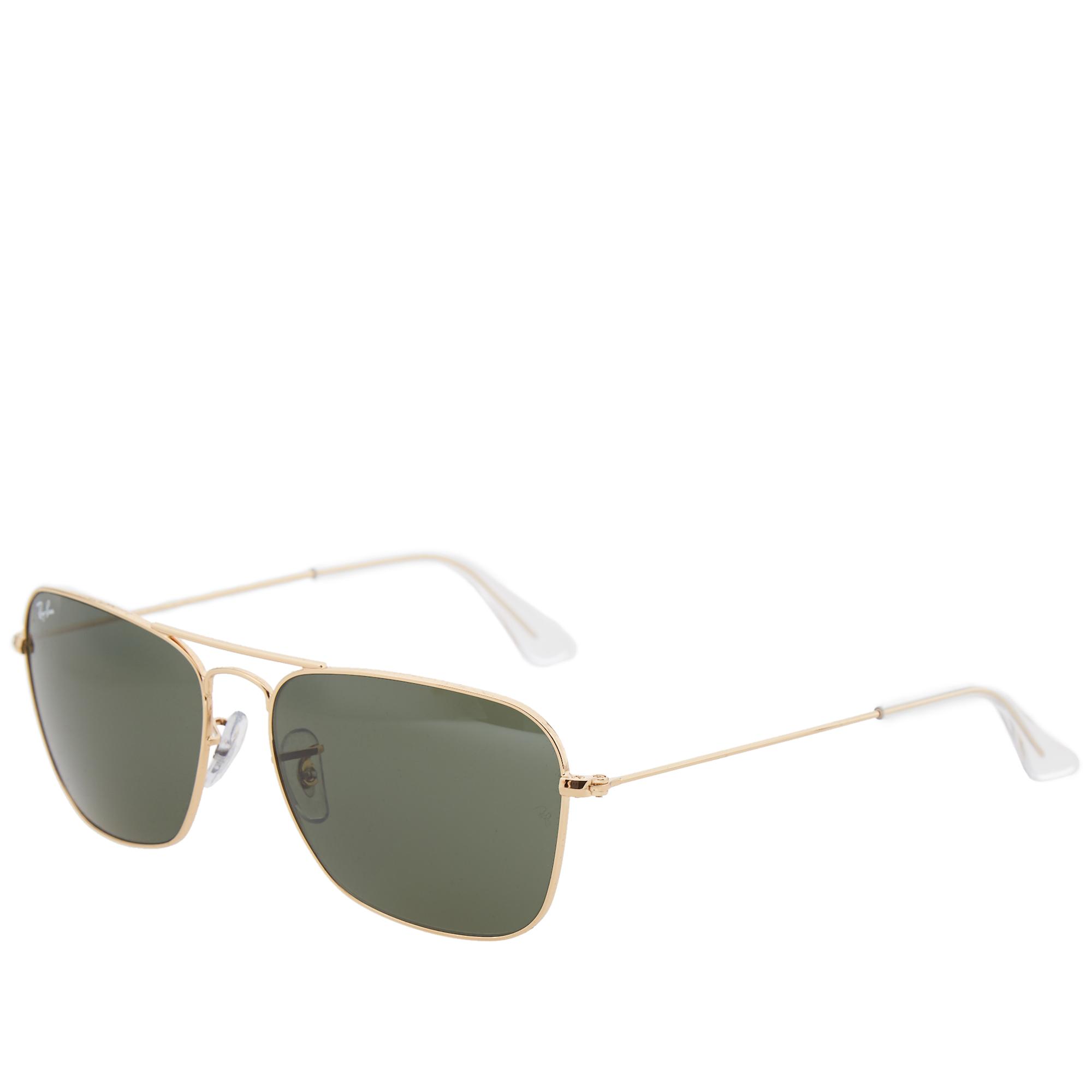 ray ban arista gold  Ray Ban Caravan Sunglasses (Arista \u0026 Crystal Green)
