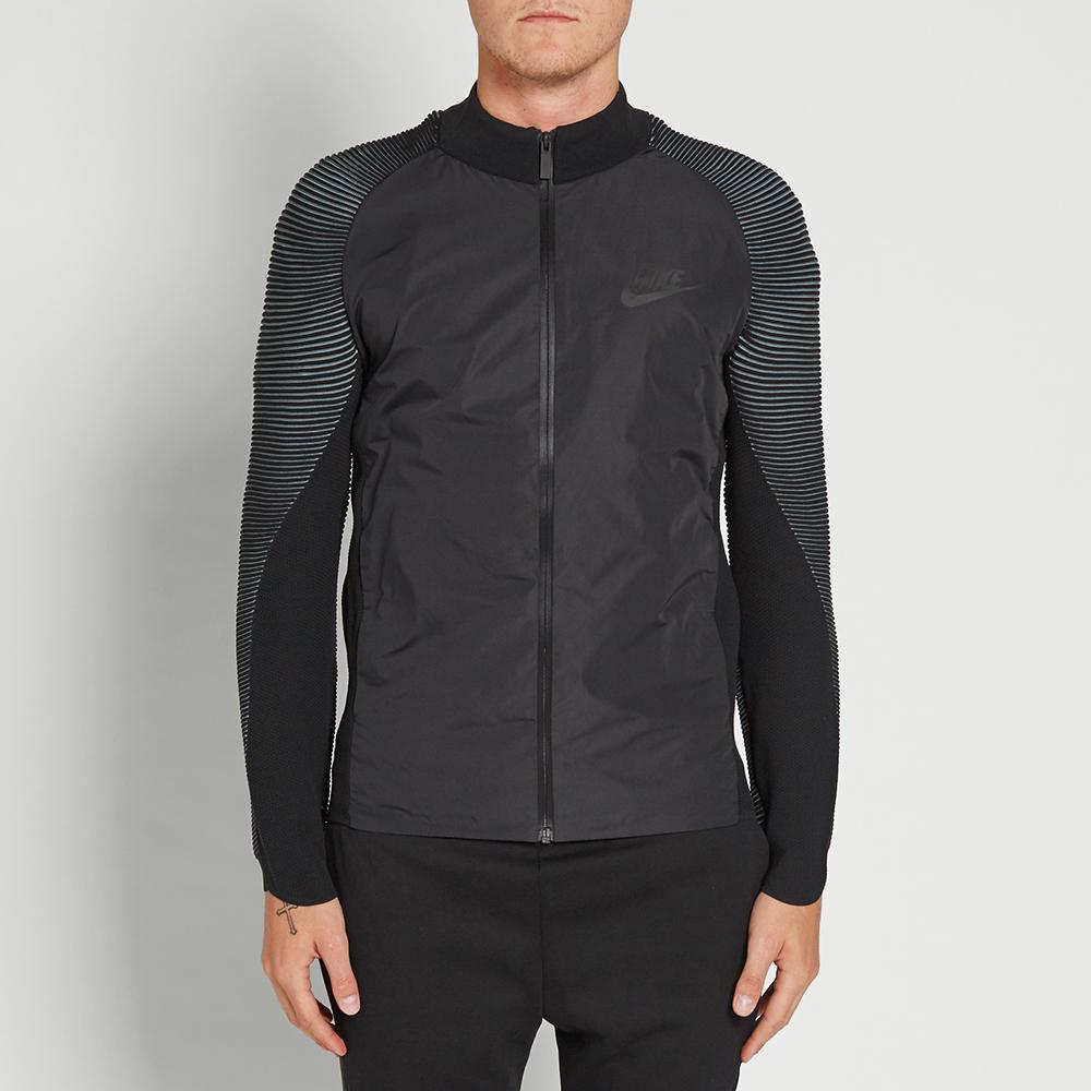 Nike Tech Knit Varsity Jacket (Black)