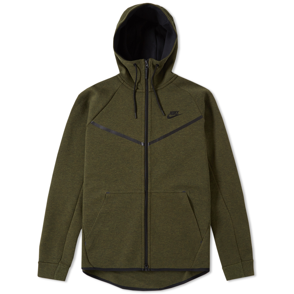 nike tech fleece windrunner dark loden black. Black Bedroom Furniture Sets. Home Design Ideas