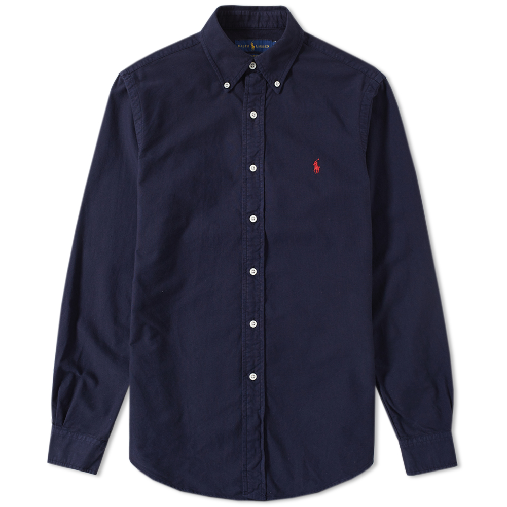 polo ralph lauren slim fit garment dyed oxford shirt. Black Bedroom Furniture Sets. Home Design Ideas