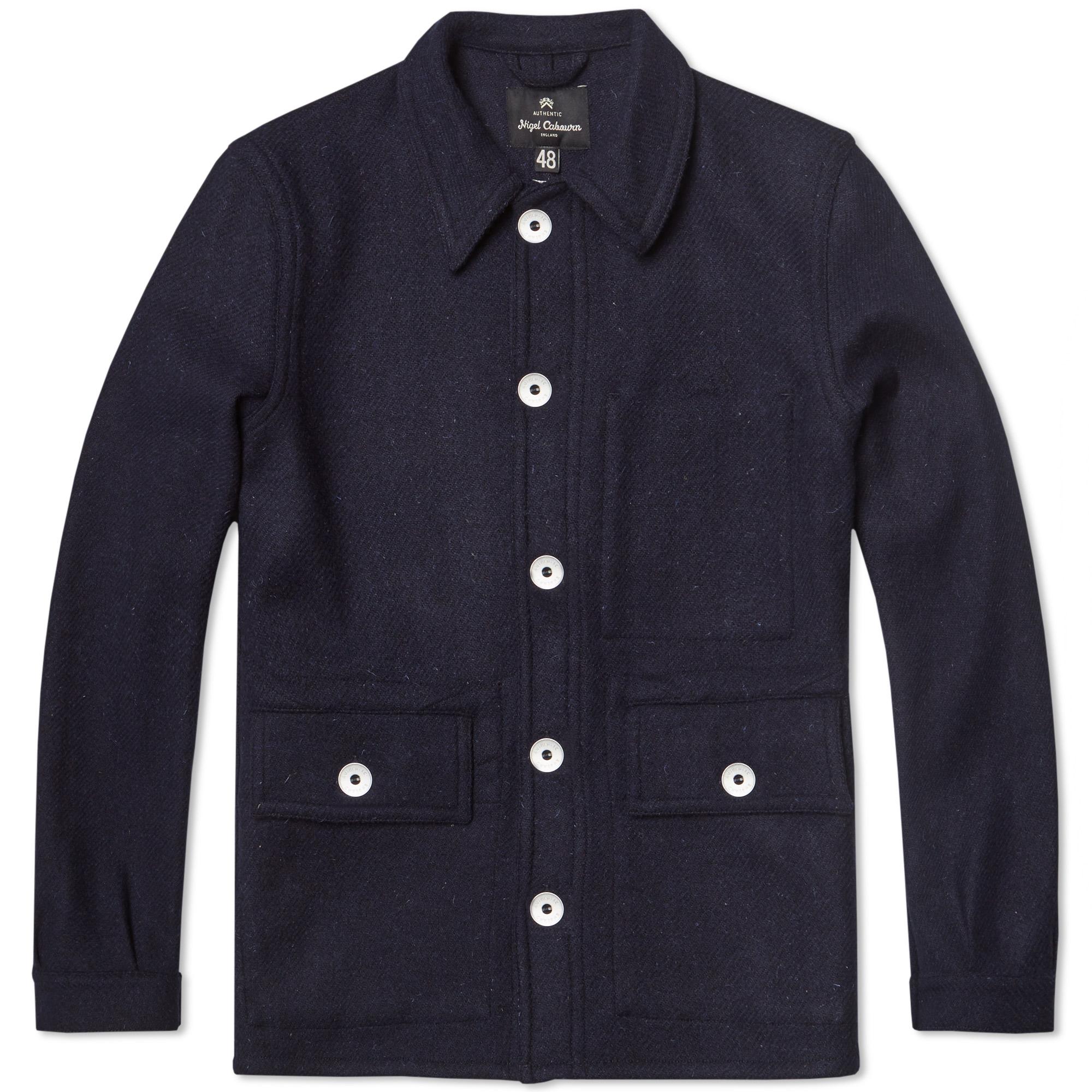 Nigel Cabourn x Lybro Short Work Jacket (Dark Navy Harris Tweed)