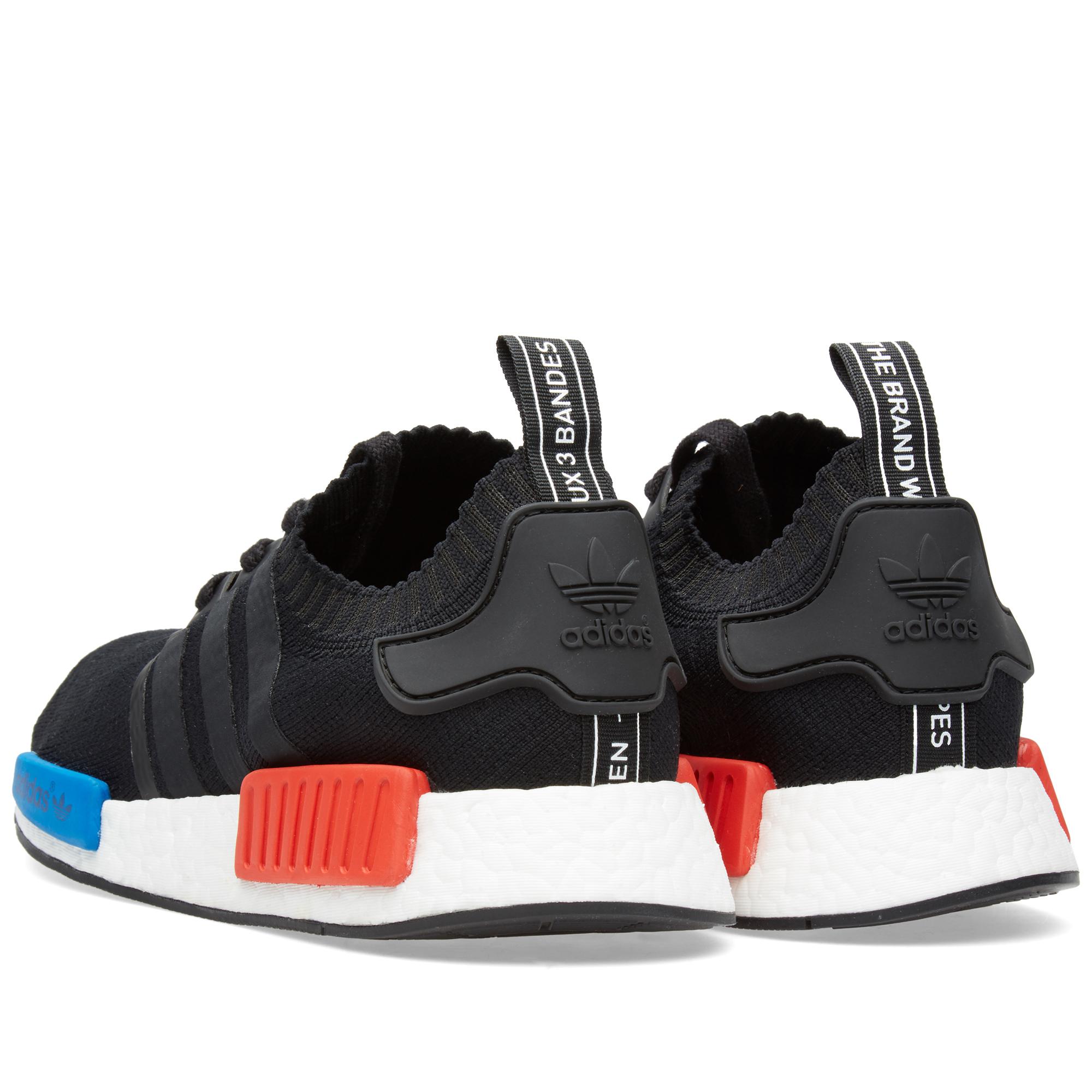 Adidas Nmd Black Red Tabs
