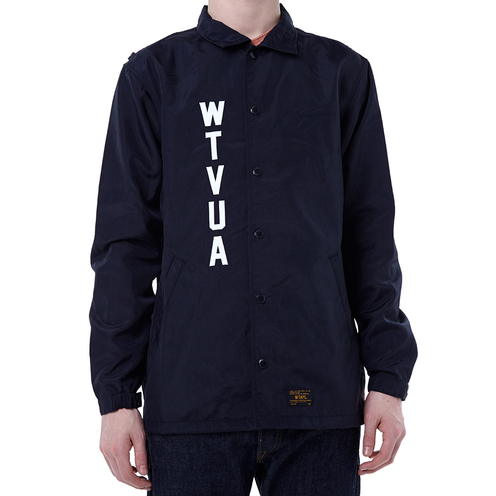 Wtaps coach jacket navy for Coach jacket
