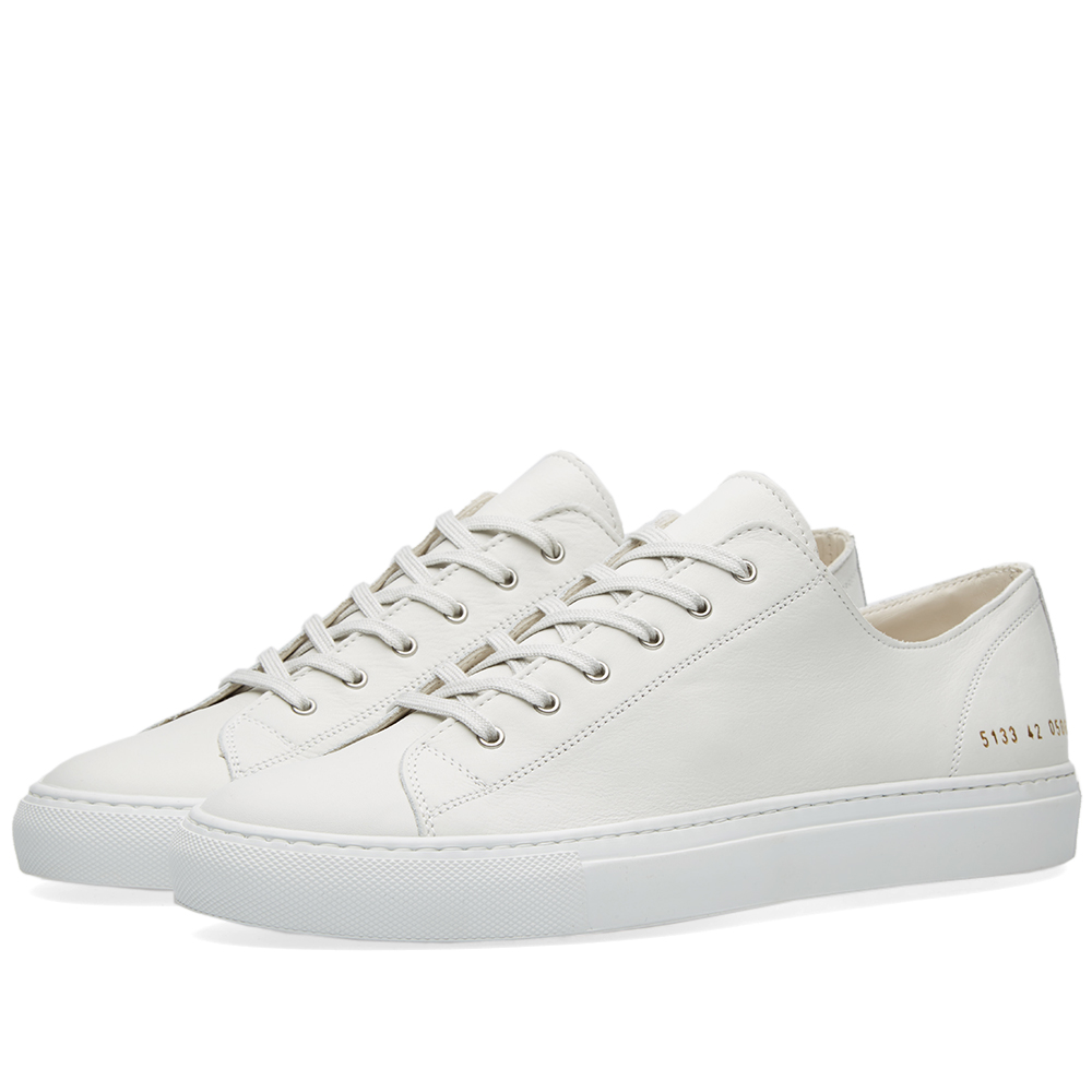 common projects tournament low leather white. Black Bedroom Furniture Sets. Home Design Ideas