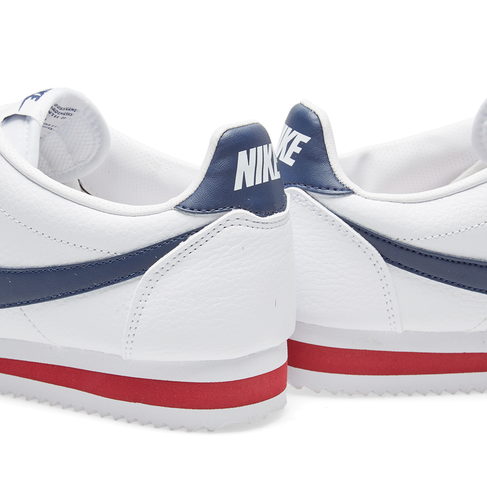 nike classic cortez leather white midnight navy. Black Bedroom Furniture Sets. Home Design Ideas