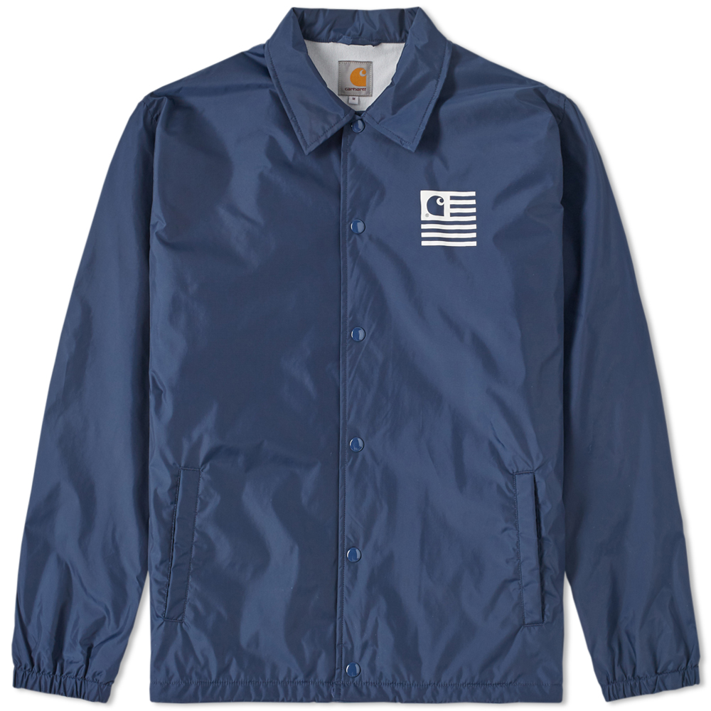 Carhartt state coach jacket navy for Coach jacket