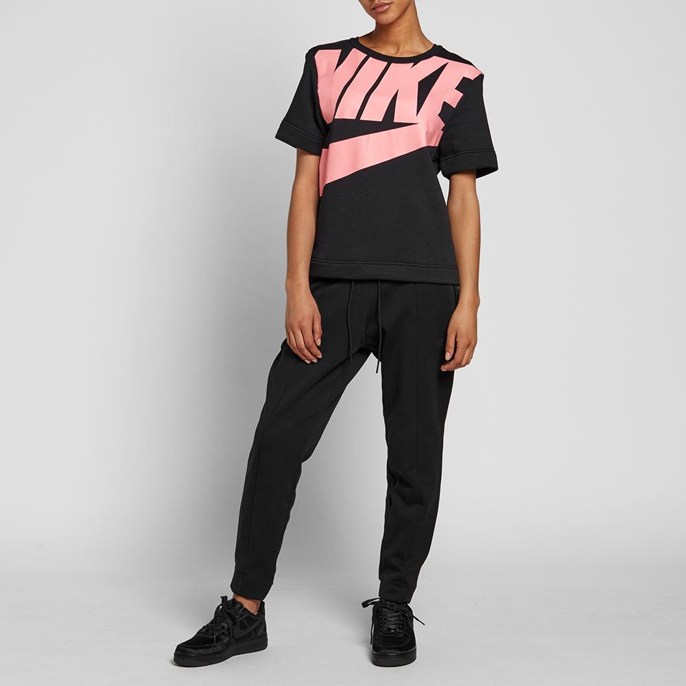 Nike w irreverent modern tee black amp bright melon