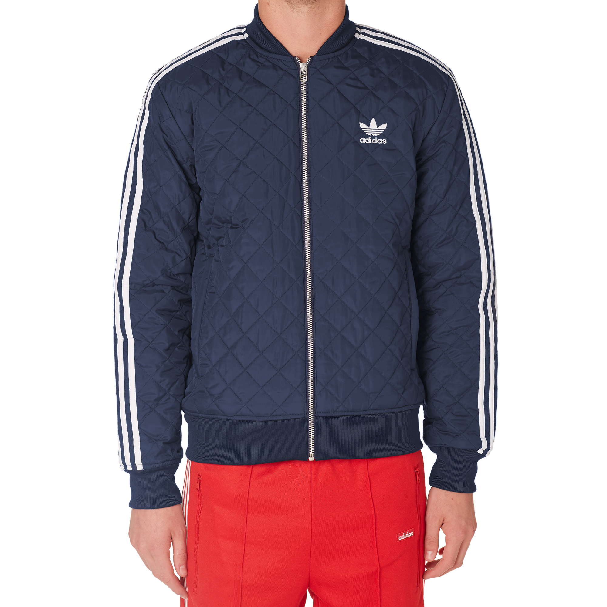 Adidas Quilted Superstar Track Top Collegiate Navy
