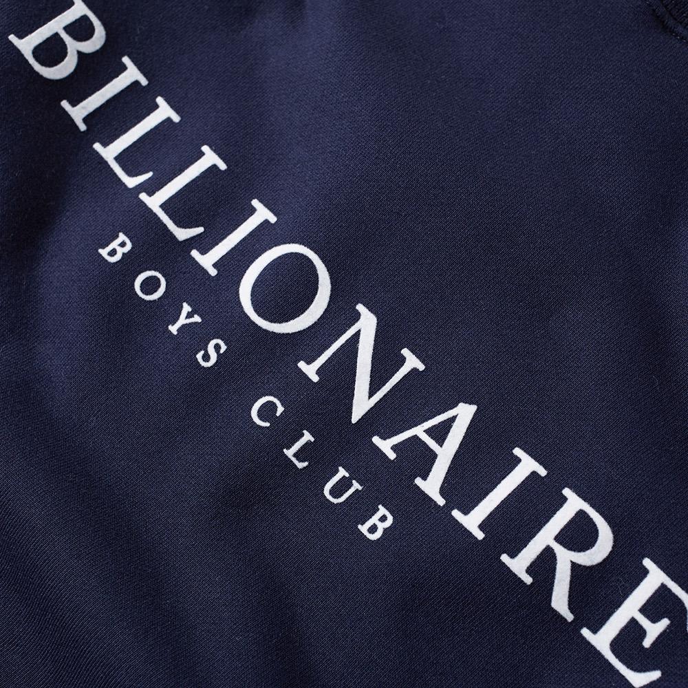 billionaire boys club monaco flock crew sweat navy. Black Bedroom Furniture Sets. Home Design Ideas