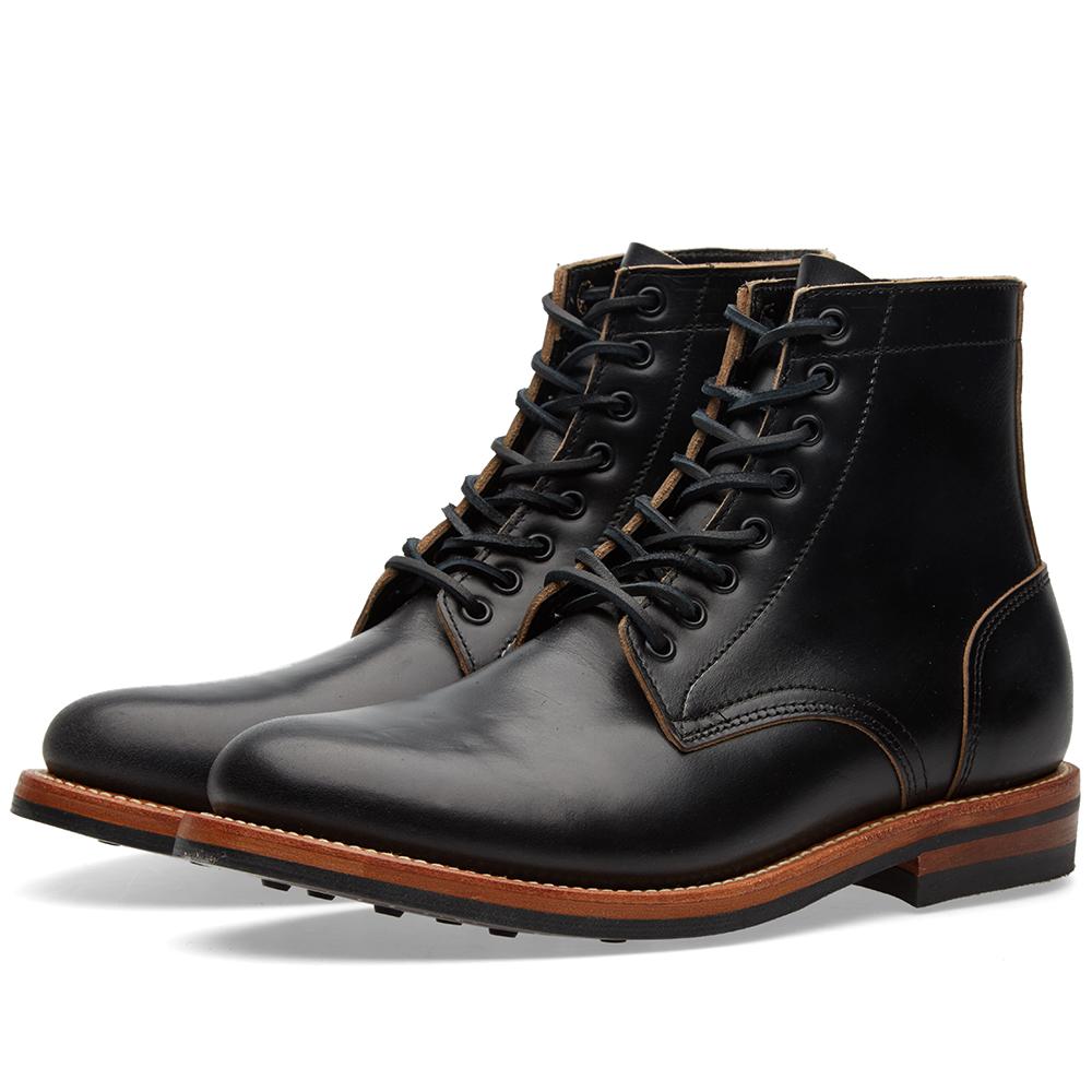 oak bootmakers dainite sole trench boot black