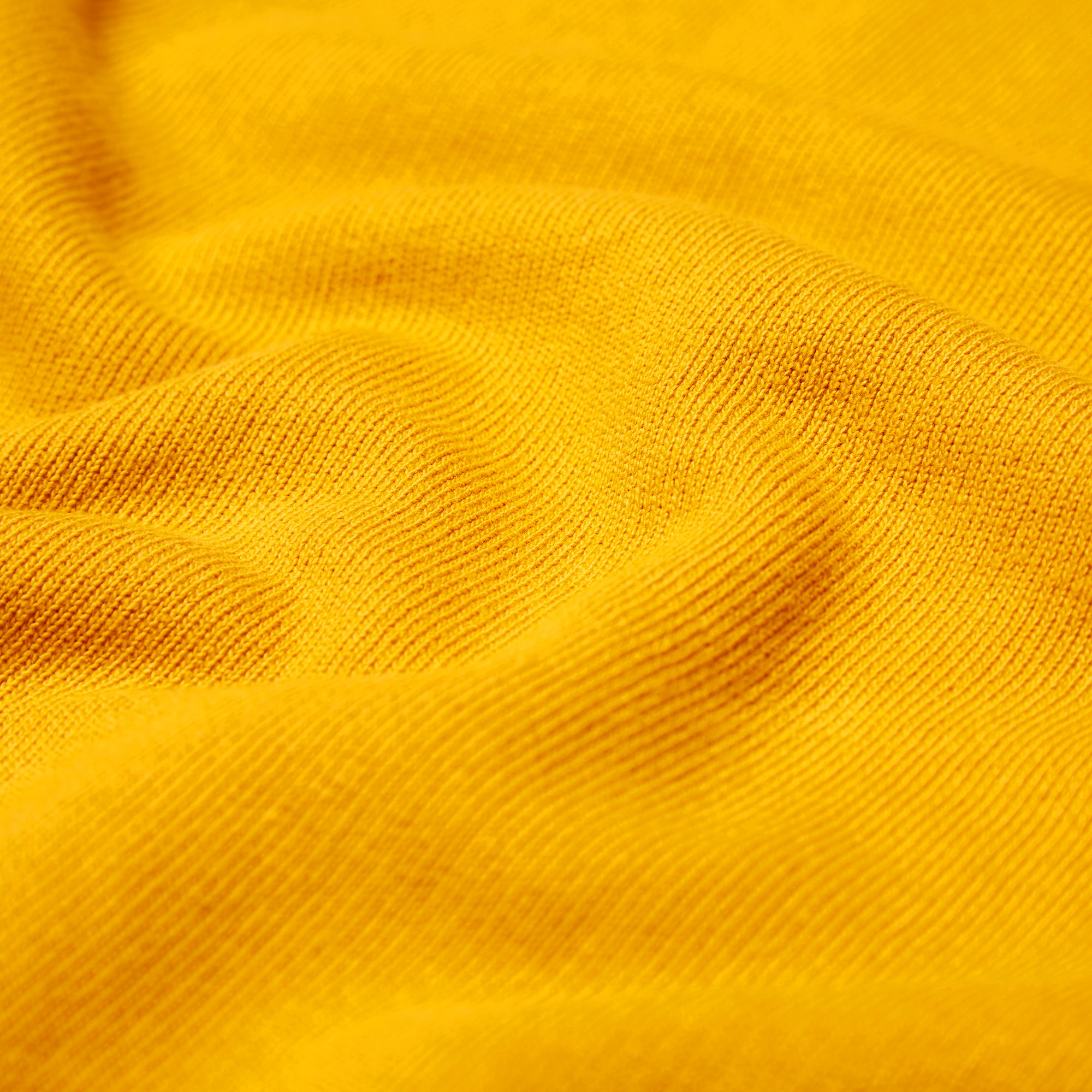 Norse Projects Vorm Brushed Crew Sweat Mustard Yellow