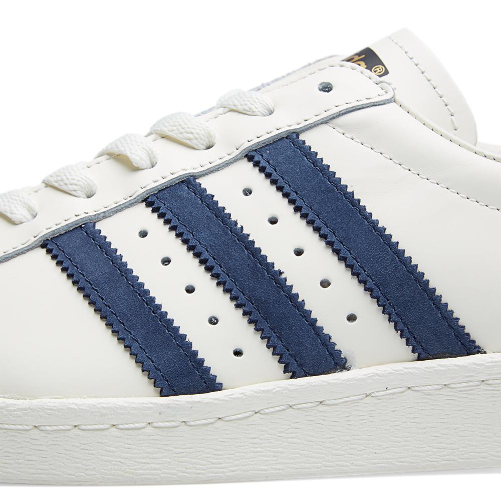 Adidas Superstar White Navy Blue