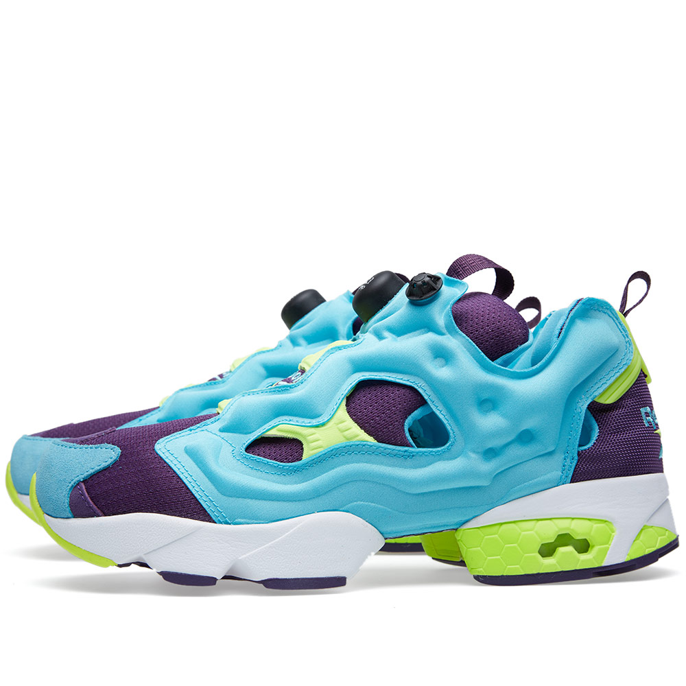 reebok pump fury neon blue purple yellow. Black Bedroom Furniture Sets. Home Design Ideas
