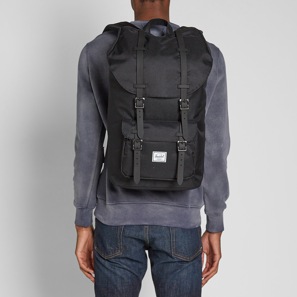 herschel supply co little america backpack black black. Black Bedroom Furniture Sets. Home Design Ideas