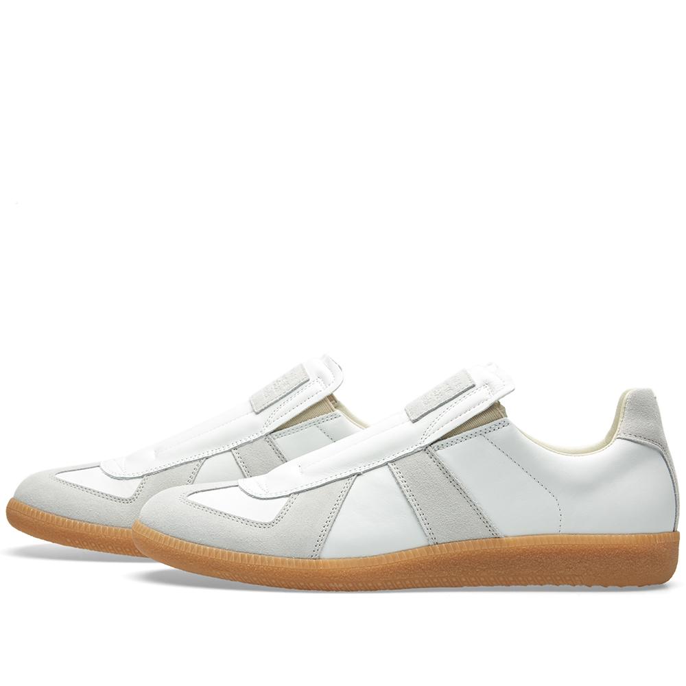 Maison margiela 22 slip on replica low sneaker white for Maison margiela 22