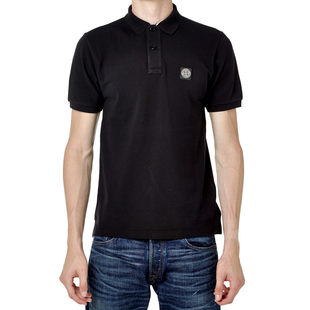 Stone Island Regular Fit Polo (Black)