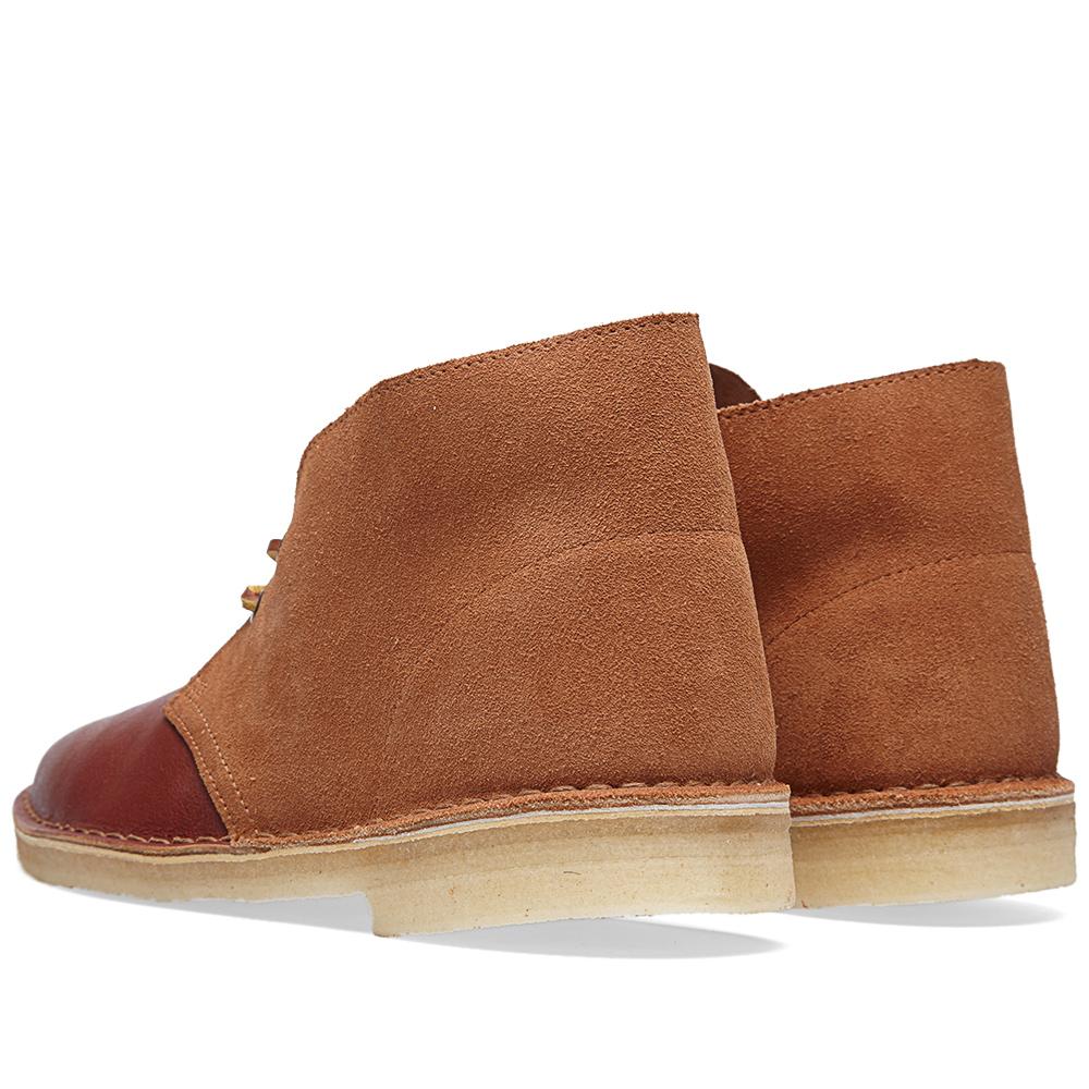 clarks originals desert boot tan combi suede leather. Black Bedroom Furniture Sets. Home Design Ideas