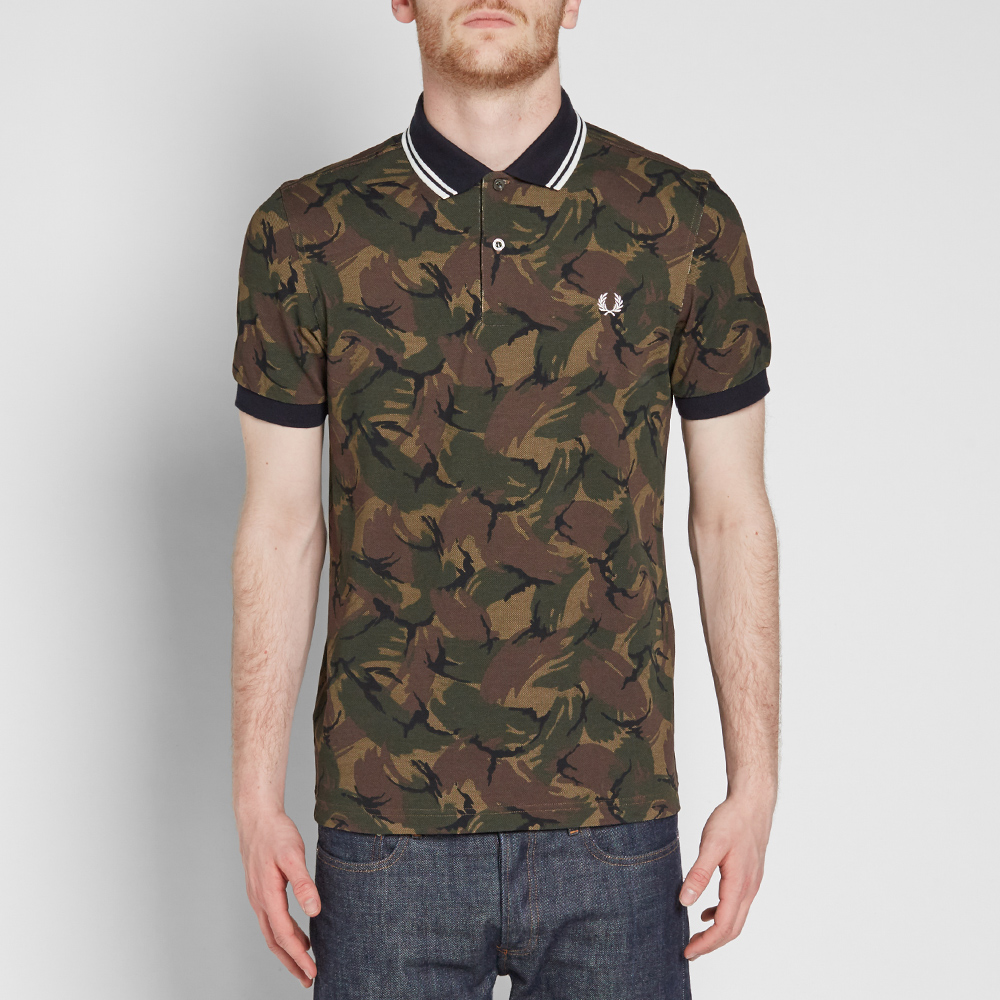 fred perry camouflage pique polo camouflage. Black Bedroom Furniture Sets. Home Design Ideas